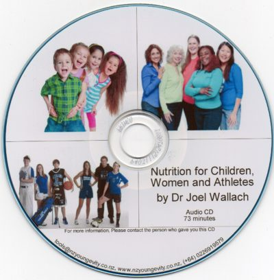 CD – Nutrition for Woman, Children and Athletes – by Dr Joel Wallach