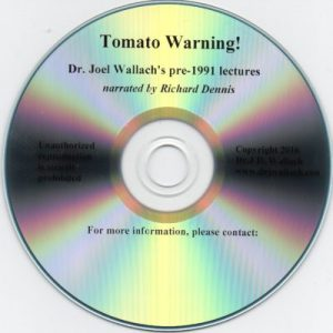 CD – Tomato Warning Narration – By Richard Dennis